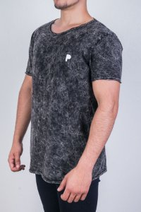 Camiseta Preta Marmorizada