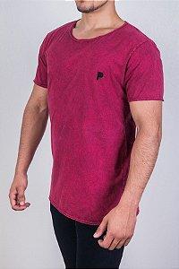 Camiseta Bordô Marmorizada