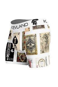 Cueca Kevland Cartas Fundo Branco