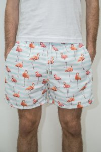 Bermuda Verão Flamingo