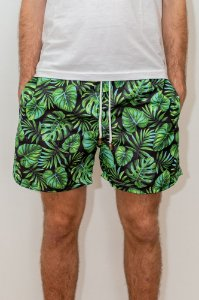 Shorts de Verão Tropical Dark