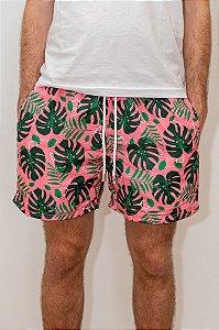 Bermuda de Verão Tropical Pink