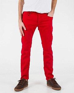 Calça Sarja Vermelha