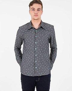 Camisa Coqueiro Jeans Escuro