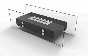 Lareira Mobile preto Artfire - modelo Vision 2 com CC55.