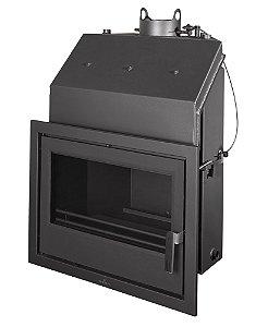 Lareira a lenha hidronica (também aquece água) - Bronpi - modelo 60E.