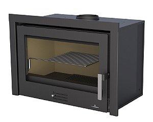 Lareira a Lenha Calefator - Bronpi - modelo RIOJA 80 - ar quente canalizável e moldura removível.