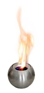 Pira  a álcool ARTFIRE - modelo Esfera - em alumínio