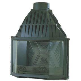 Lareira Recuperador de Calor  vidro prismático - DIFFUSION - Modelo B4