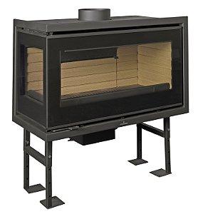 Lareira a Lenha Calefator - Bronpi - modelo PANAMA-E - duas faces envidraçadas.