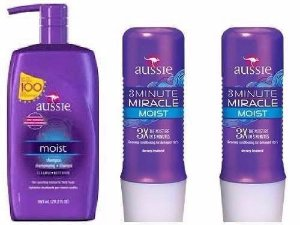 Kit Aussie Moist com Shampoo 860ml + 02 Máscaras Aussie Moist 3 Minute 236ml