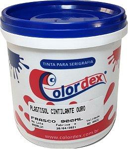 Tinta Plastisol Cintilante Ouro e Prata - Colordex  - 900 ml