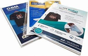 OBM para Sublimação em tecidos escuros - Folha A4 (pacote com 10 unidades)