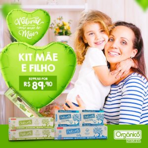 Kit Mãe e Filho: 2 Cremes Dentais Camomila + 1 escova de bambú + 2 sabonetes baby + 1 creme dental baby