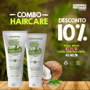 COMBO HAIRCARE - 1 Shampoo Natural + 1 Condicionador Natural