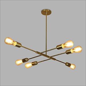 Pendente Athenas Dourado Metalico Usina Design 16285-6-DRD