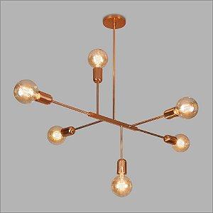Pendente Dalila Cobre Usina Design Metalico 16280-6-CO