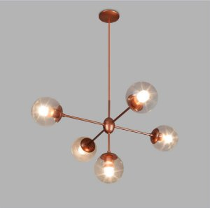 Pendente Bubles Cobreado Metalico Usina Design 16330-6-DRD