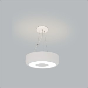 Pendente Redondo Ariel Ø60x11,5 Branco Usina Design 4151-60