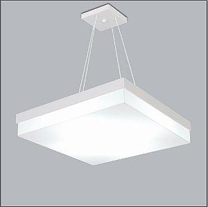 Pendente Quadrado Acrilico Leitoso Branco 32x32 Flutua Usina Design 3901-32