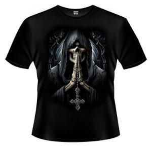 Camiseta Caveira Rezando