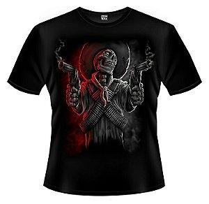 Camiseta Caveira Guerrilheira