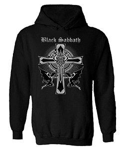 Blusa de Moletom com Capuz Black Sabbath