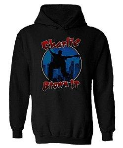 Blusa de Moletom com Capuz Charlie Brown Jr.