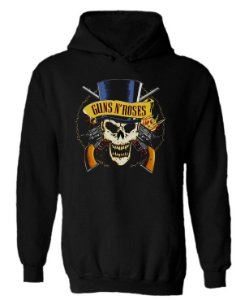 Blusa de Moletom com Capuz Guns N'Roses