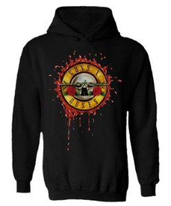 Blusa de Moletom com Capuz Guns N'Roses - Logo