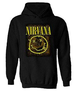 Blusa de Moletom com Capuz Nirvana - Smile