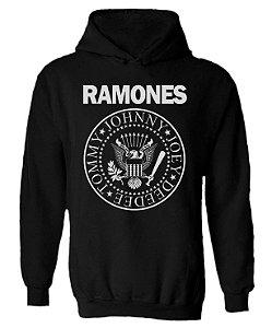 Blusa de Moletom com Capuz Ramones