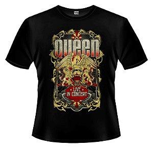 Camiseta - Queen - Live in Concert.
