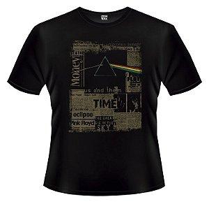 Camiseta Infantil Pink Floyd - Jornal