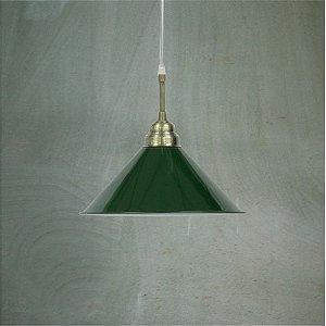 Lustre Pendente Bilhar Verde Golden Art T140/1