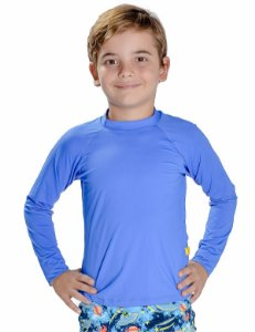 Blusa UV Masculina Lisa Azul