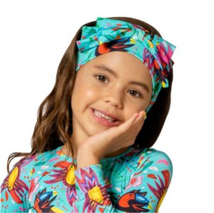 Turbante Infantil Tucano Azul