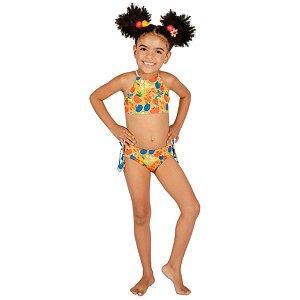 Biquíni Infantil Adriana Dupla Face Frutas