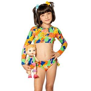 Biquíni Infantil Cropped Duda Tropical