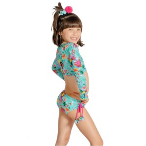 Biquíni Infantil Cropped Duda Tucano Azul