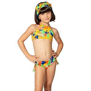 Biquíni Infantil Cropped Camila Tropical