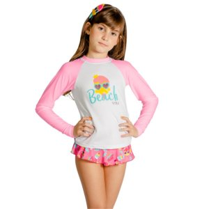 Blusa UV Infantil Feminina Docinhos