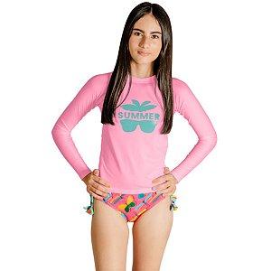 Blusa UV Infantil Feminina Óculos