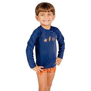 Blusa UV Infantil Masculina Elementos