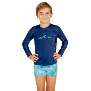 Blusa UV Infantil Masculina Wave
