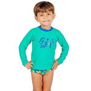 Blusa UV Infantil Masculina Surf
