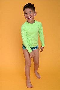Blusa UV Infantil Masculina Limão Splash
