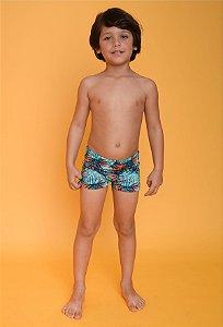 Sunga Infantil Leh Boxer Folhas