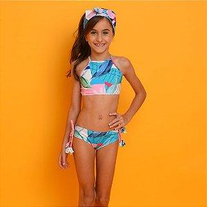 Biquíni Infantil Cropped Camila Estampado