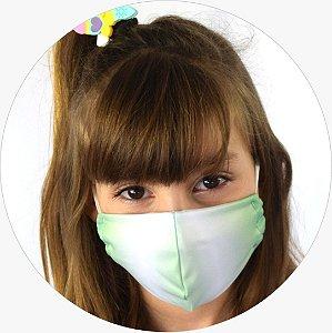 Máscara Infantil Verde Mesclada